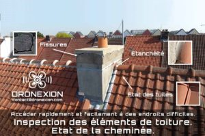 Inspection toiture par drone