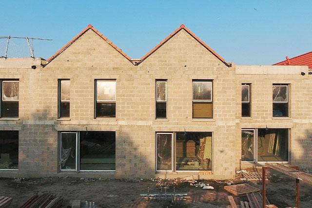 façade en construction