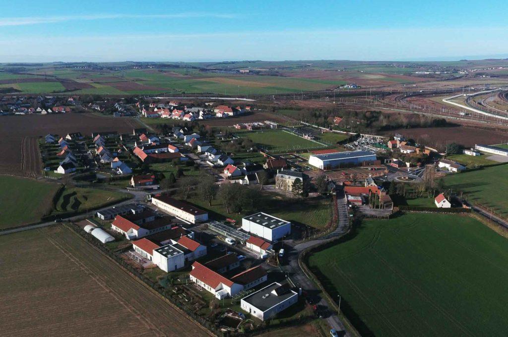 photo aérienne ville de frethun