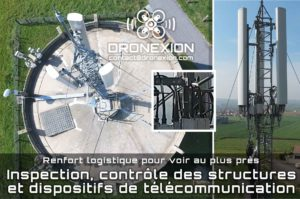 Inspection d'une antenne Télécom fixée sur un château d'eau