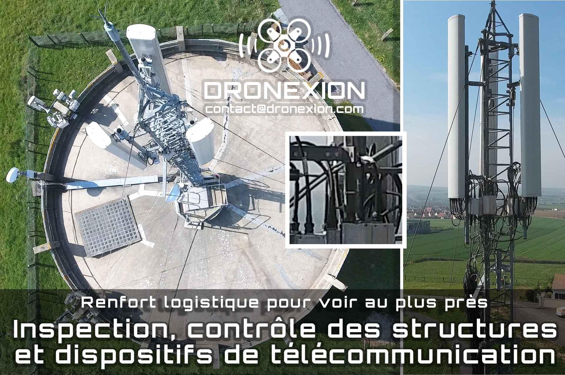 inspection télécoms par drone