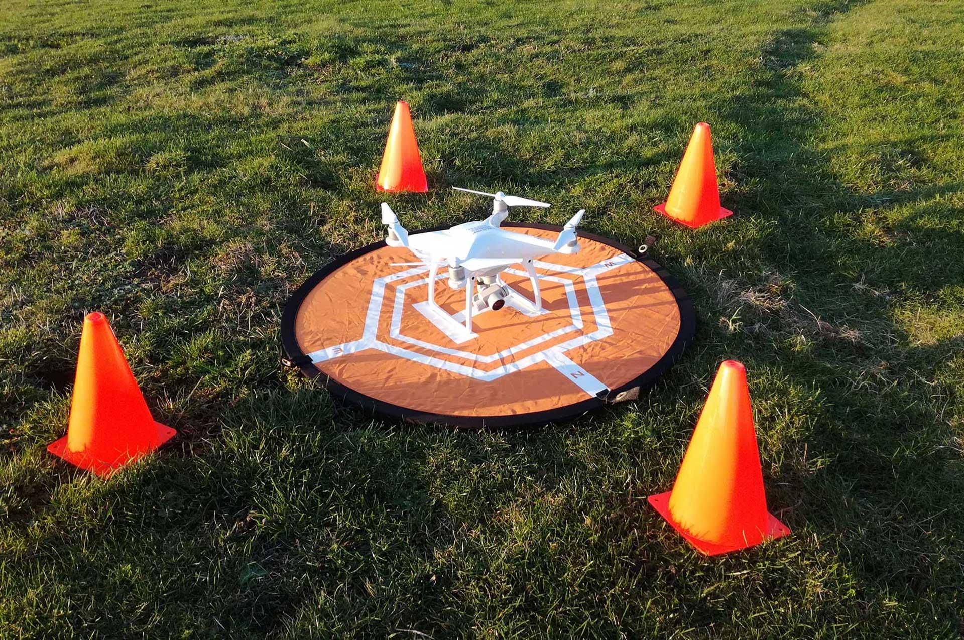 Piste de décollage avec drone phantom 4