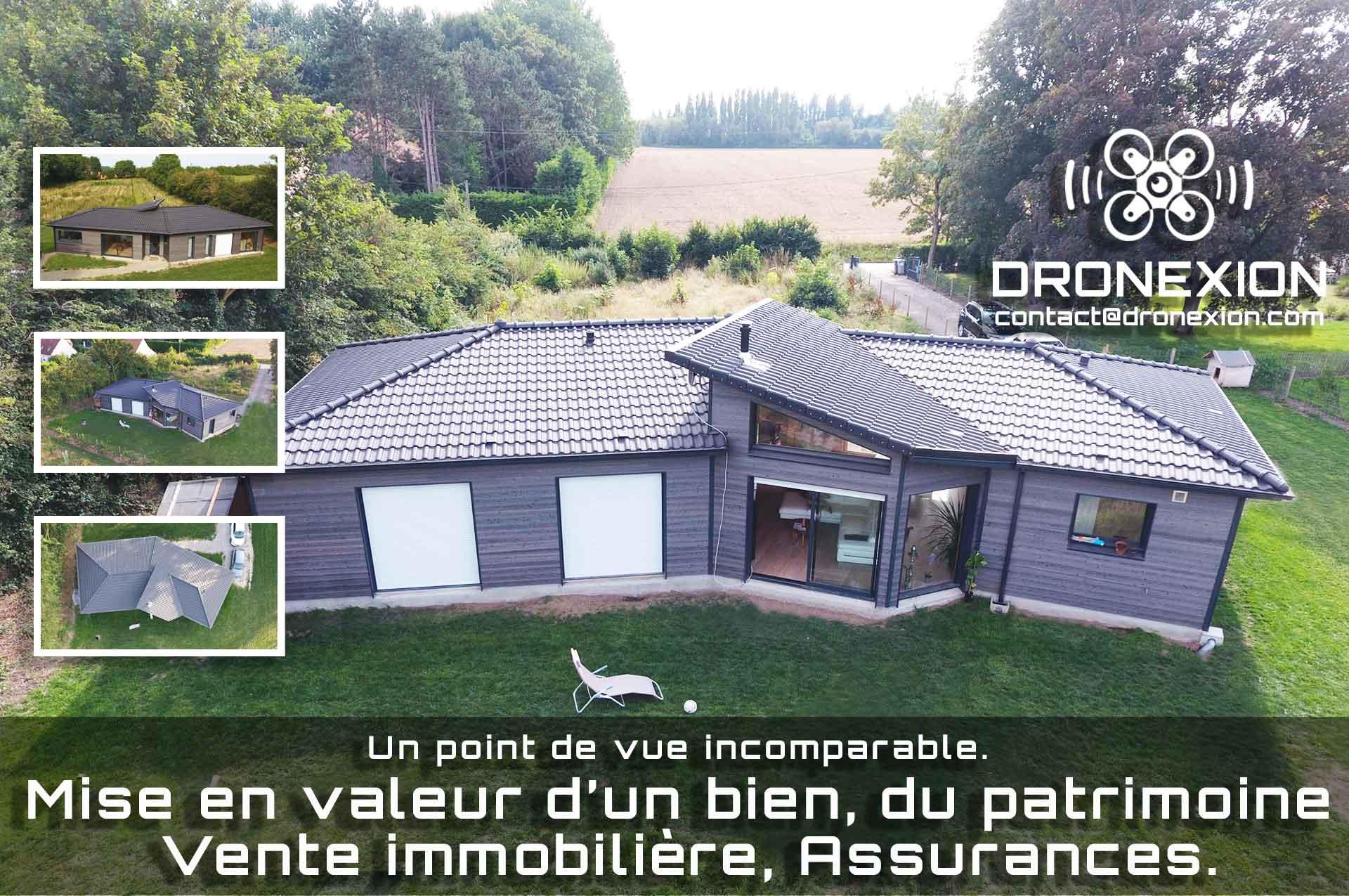 Photos de maison par drone