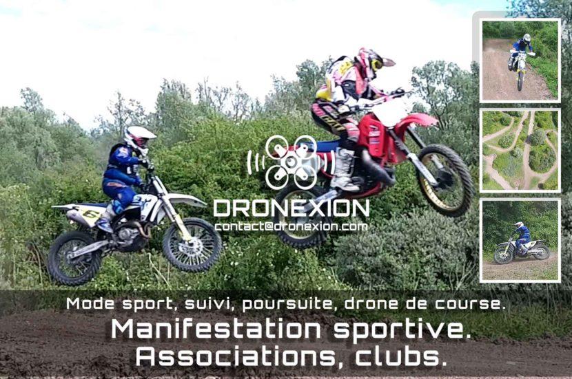 Motocross par drone