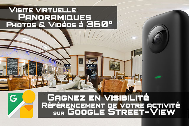 Communication visite virtuelle panoramique, 360°