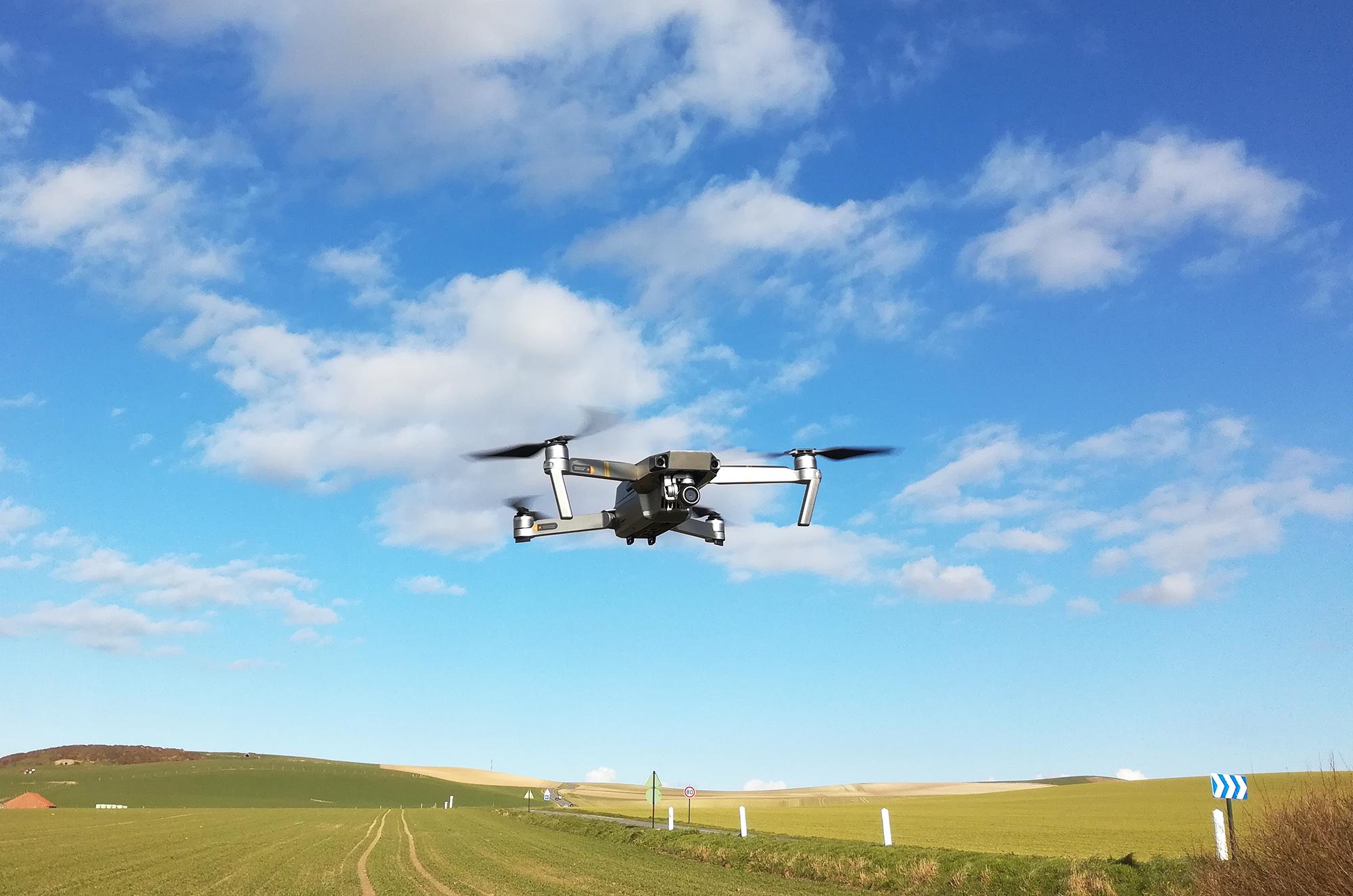 Drone DJI Mavic Pro Platinium en vol